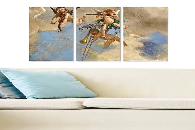 TAVLA Abstract 3-pack Flerfärgad 20x50 cm - Möbler & Inredning - Inredning - Posters & tavlor