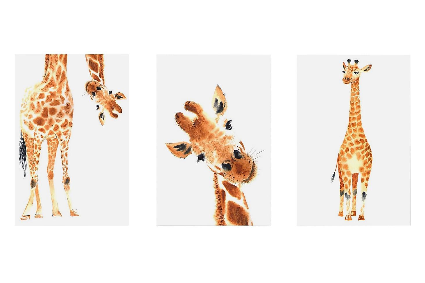 TAVLA Funny Giraffes 3 Parts 60×30