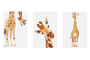 TAVLA Funny Giraffes 3 Parts 60x30