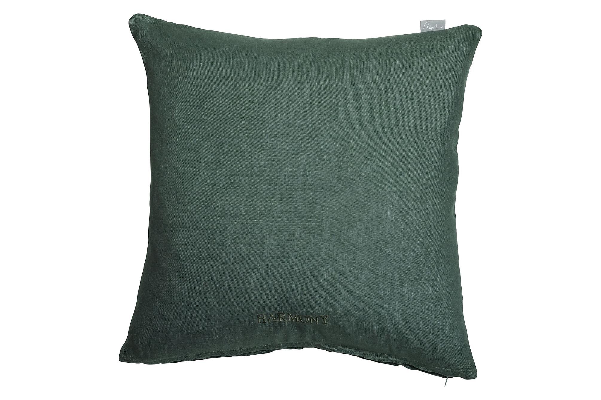 ALDACO Linnekuddfodral 45x45 Grön, Prydnadskuddar & filtar