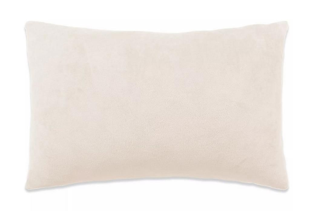 Kudde 2 st velour 40x60 cm naturvit - Vit - Möbler & Inredning - Inredning - Prydnadskuddar & filtar