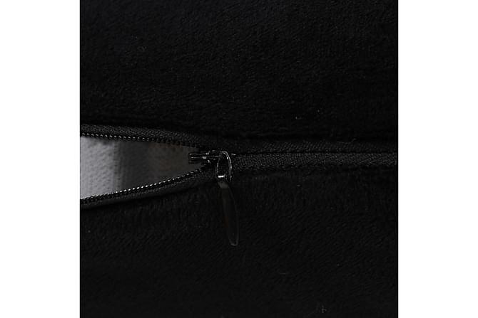Kudde 2 st velour 60x60 cm svart - Svart - Möbler & Inredning - Inredning - Prydnadskuddar & filtar