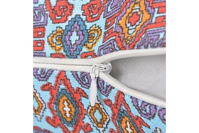 Prydnadskuddar 2 st canvas Aztec tryckt flerfärgad 45x45 cm - Flerfärgad - Möbler & Inredning - Inredning - Prydnadskuddar & filtar