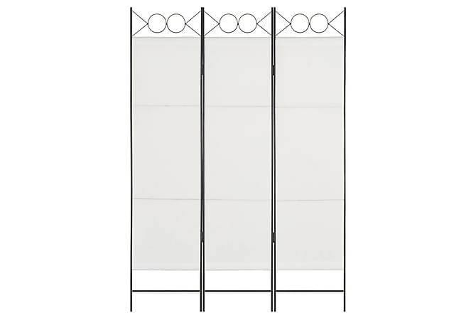 Rumsavdelare 3 paneler vit 120x180 cm - Vit - Inomhus - Inredning - Rumsavdelare