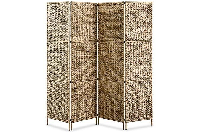 Rumsavdelare 4-paneler vattenhyacint 160x160 cm - Inomhus - Inredning - Rumsavdelare