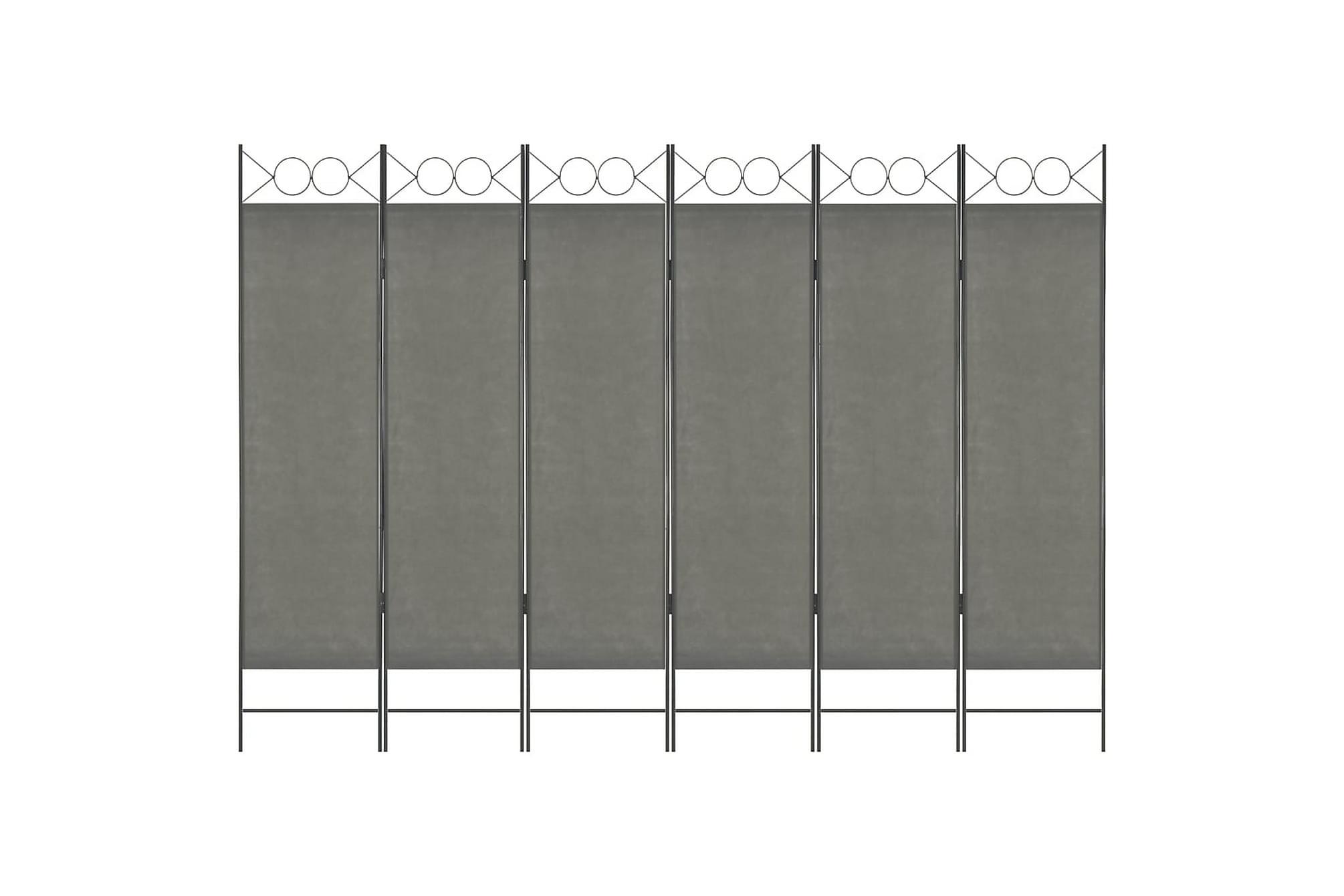 Rumsavdelare 6 paneler antracit 240×180 cm