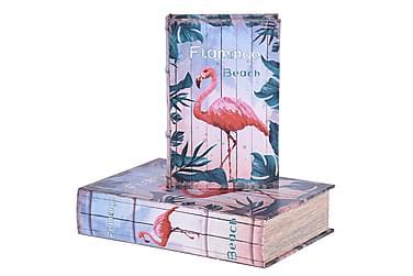 ANGOVE Bokförvaring 30 Flamingo Set om 2 Multi