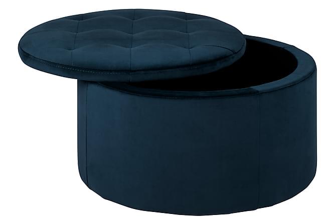 BOBBLY Sittpuff med Förvaring Blå - Möbler & Inredning - Inredning - Småförvaring