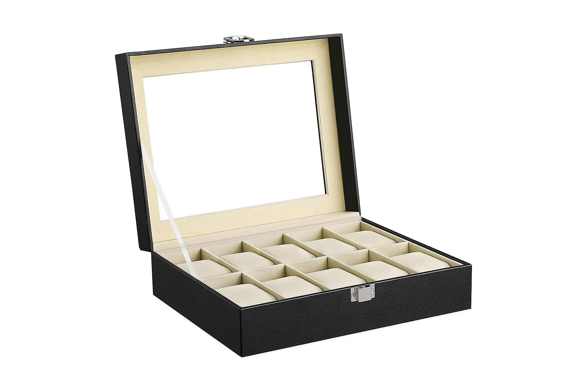 DEBBY Smyckeskrin med Glaslock Beige, Småförvaring