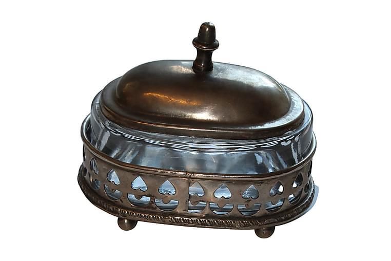 FÖRVARINGSBURK Oval 14x12 cm Silver - AG Home & Light - Möbler & Inredning - Inredning - Småförvaring