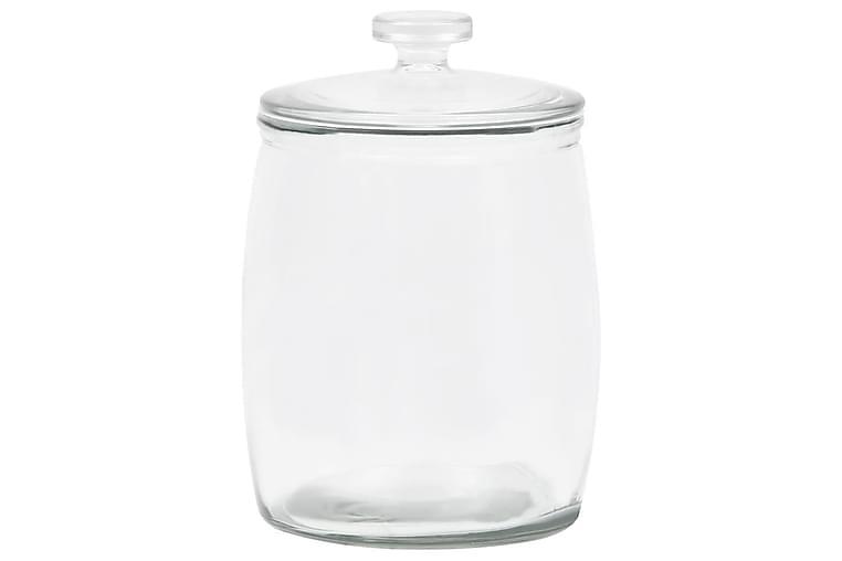 Förvaringsburkar i glas med lock 2 st 8000 ml - Transparent - Möbler & Inredning - Inredning - Småförvaring