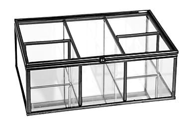 LEVIER Låda 5 Fack Metall/Glas