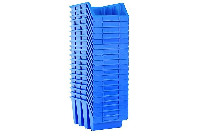 Staplingsbara sortimentaskar 20 st blå plast - Blå - Möbler & Inredning - Inredning - Småförvaring
