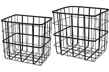 Wirekorgar till Tidningar eller Förvaring Svart