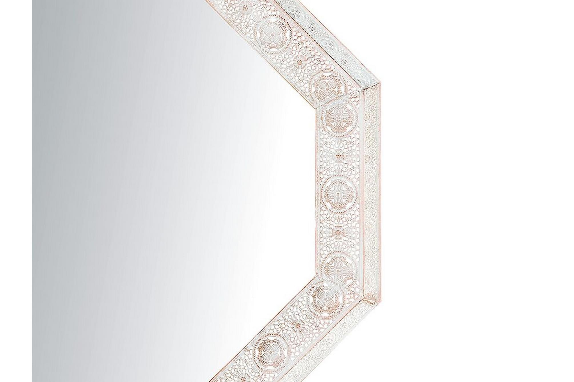 ALARCON Spegel 84x84 cm Vit, Speglar