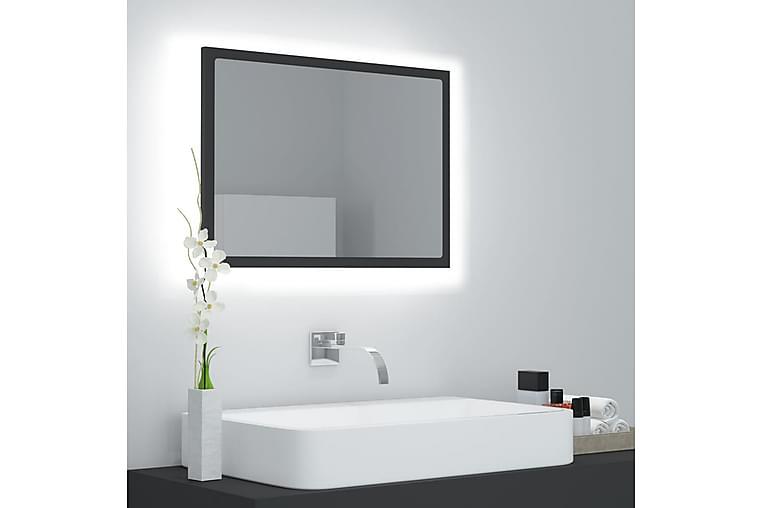 Badrumsspegel med LED grå 60x8,5x37 cm spånskiva - Grå - Möbler & Inredning - Inredning - Speglar