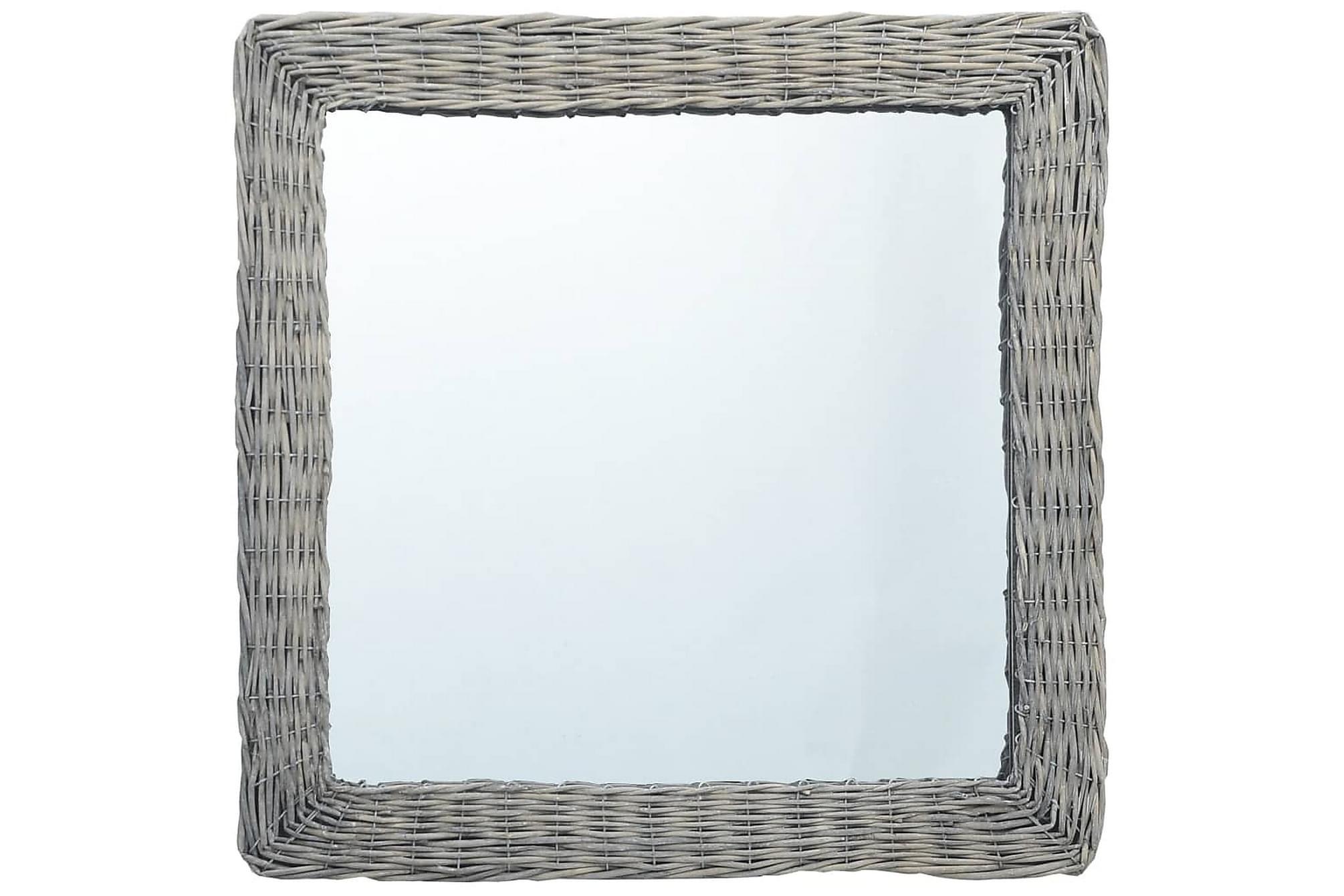 Spegel 60x60 cm korgmaterial