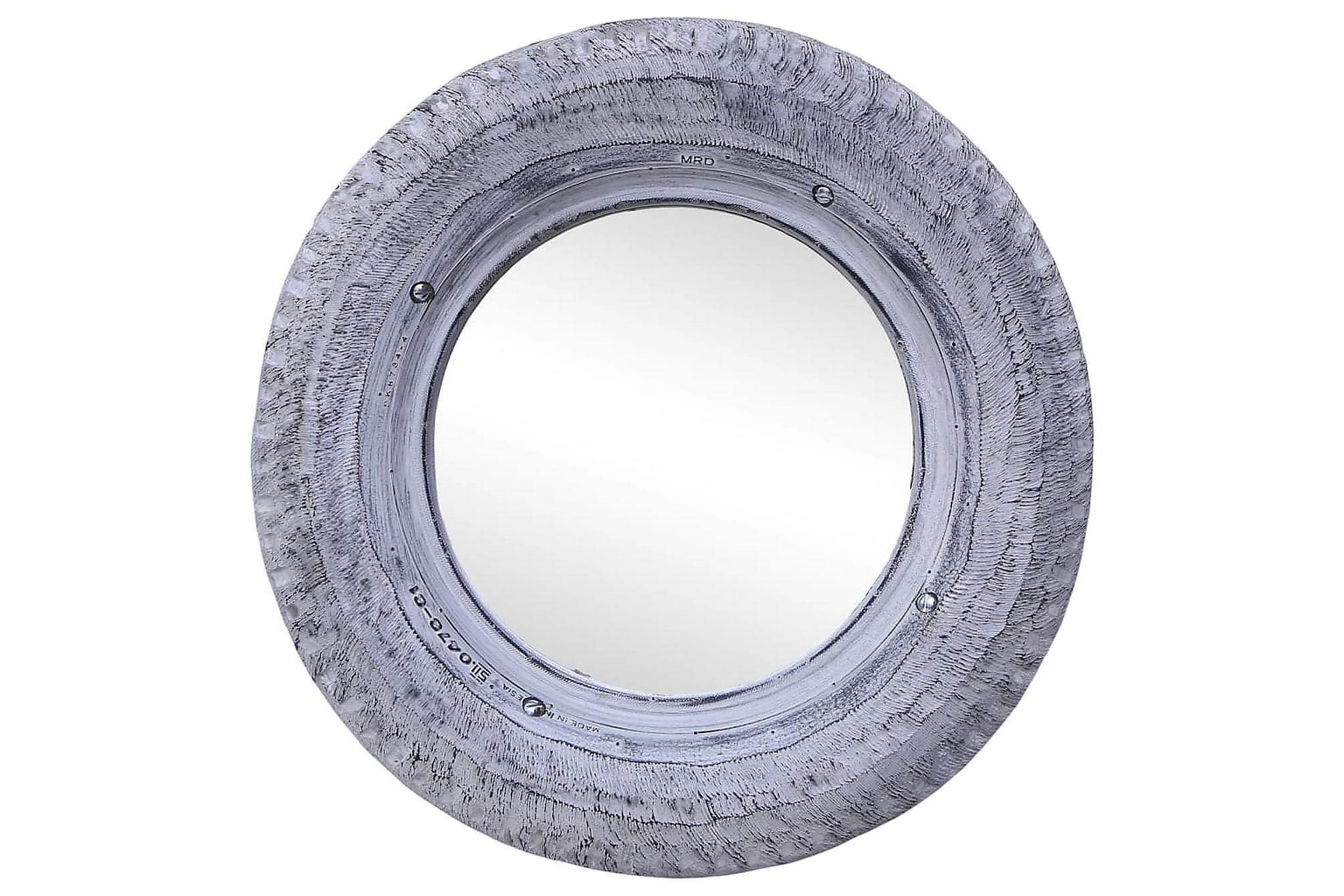 Spegel vit 50 cm återvunnet gummidäck