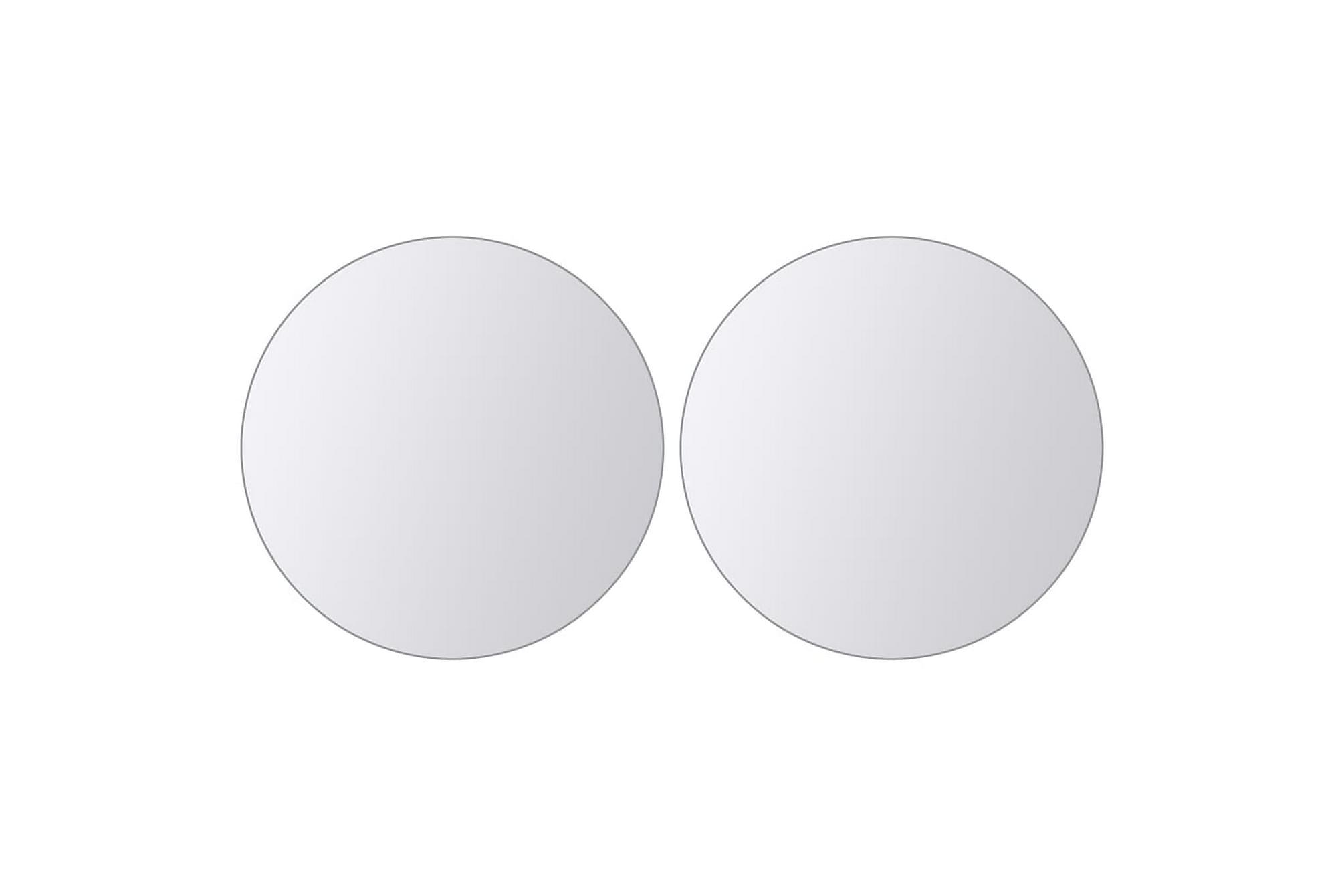 Spegelplattor 16 st runt glas