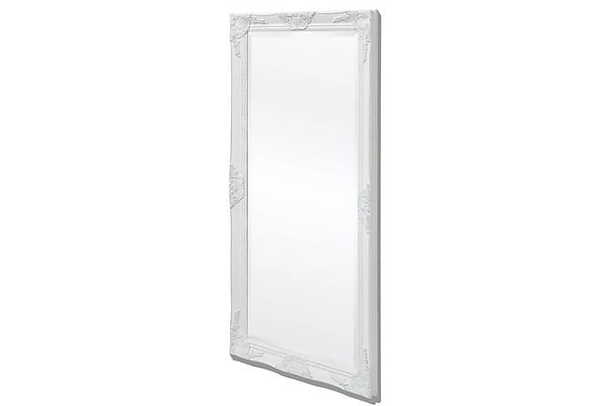Väggspegel i barockstil 120x60 cm vit - Inomhus - Inredning - Speglar