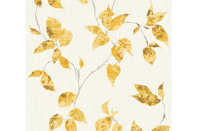 Blommig Tapet Flavour Ovävd Gul - AS Creation - Möbler & Inredning - Inredning - Tapeter