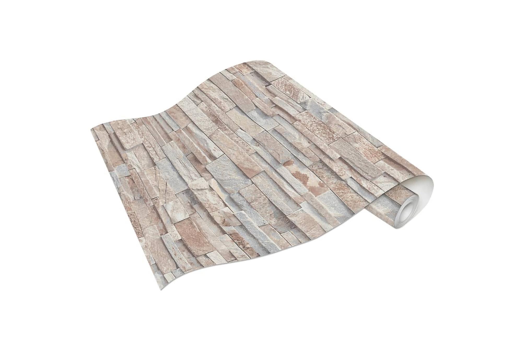 Non-woven tapetrullar 4 st brun och grå 0