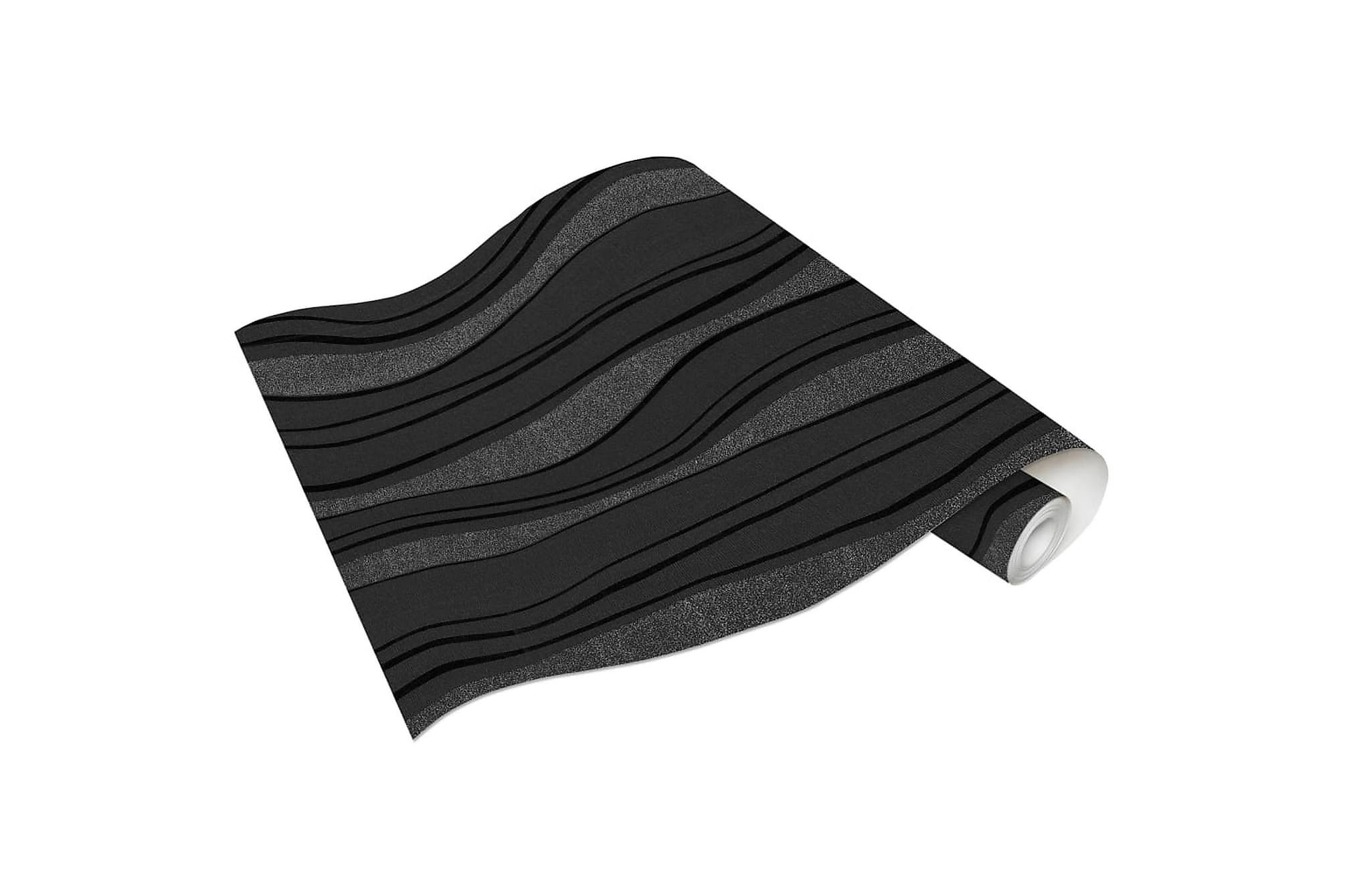 Non-woven tapetrullar 4 st svart 0