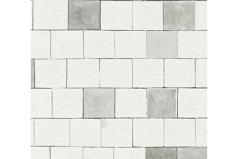Stone effect Tapet Il Decoro Ovävd Grå - AS Creation - Möbler & Inredning - Inredning - Tapeter