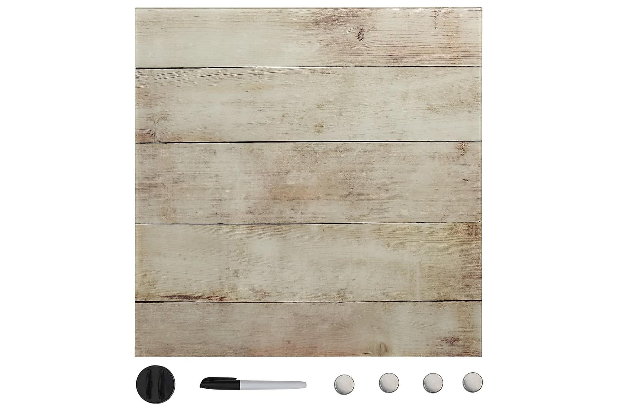 Magnetisk glastavla väggmonterad 50x50 cm, Whiteboards & griffeltavlor