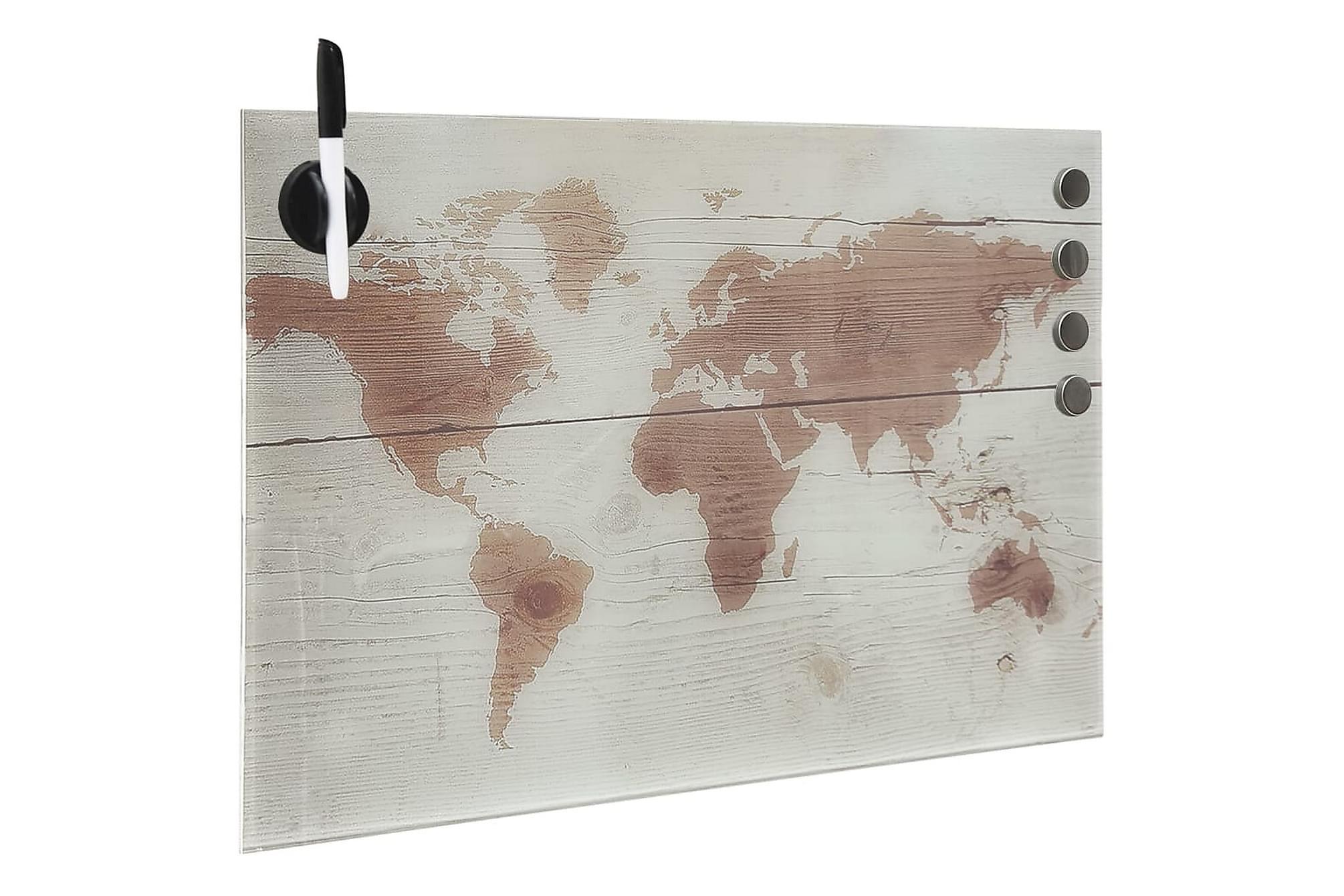 Magnetisk glastavla väggmonterad 60x40 cm, Whiteboards & griffeltavlor