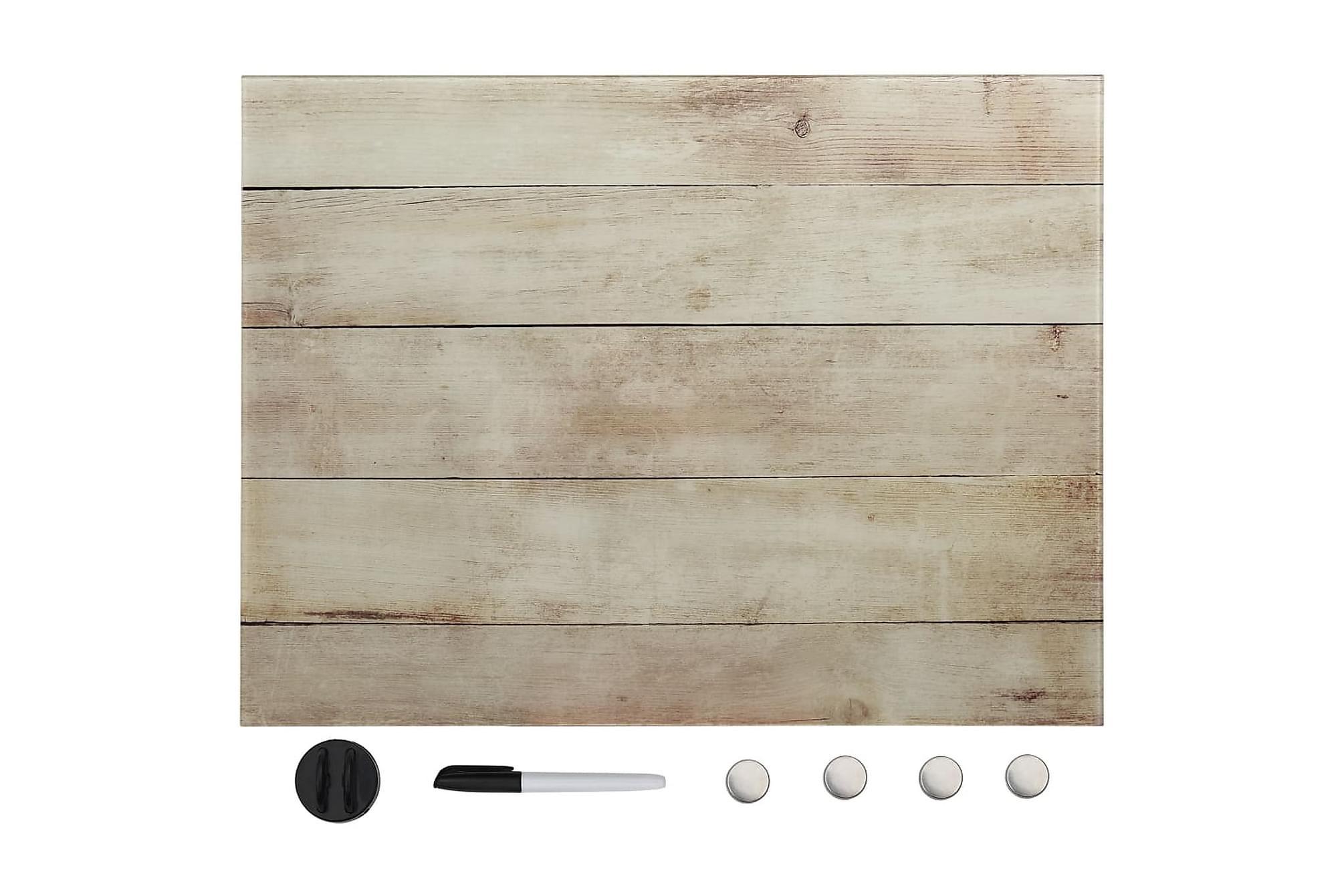 Magnetisk glastavla väggmonterad 60x80 cm, Whiteboards & griffeltavlor