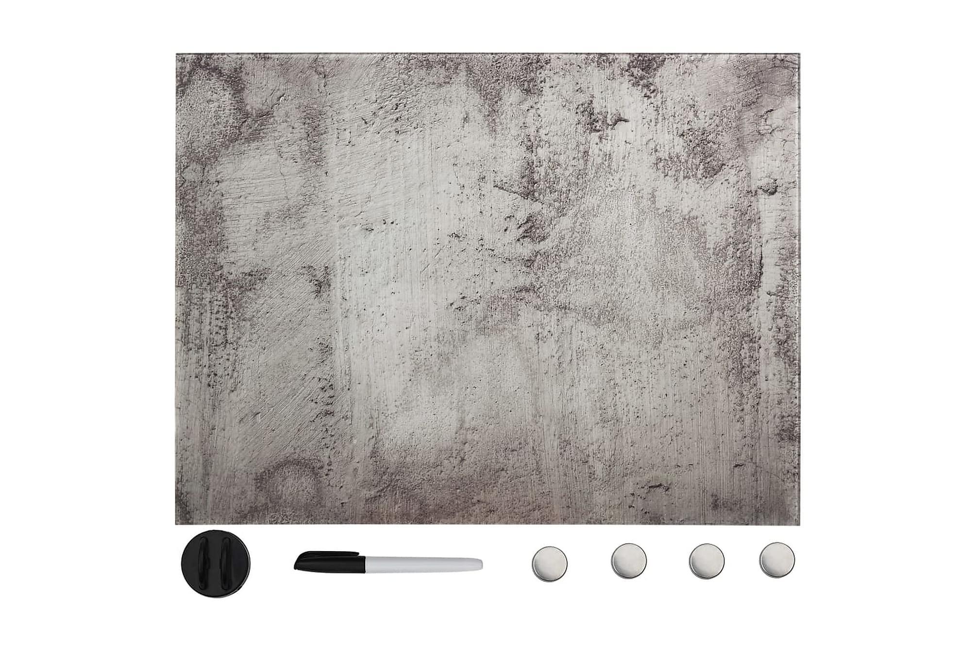 Magnetisk glastavla väggmonterad 80x60 cm, Whiteboards & griffeltavlor