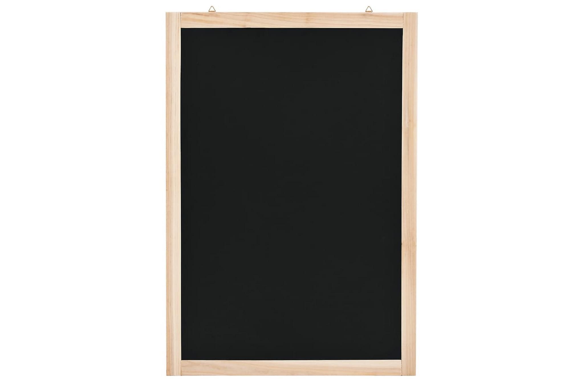 Väggmonterad griffeltavla cedarträ 40x60 cm, Whiteboards & griffeltavlor