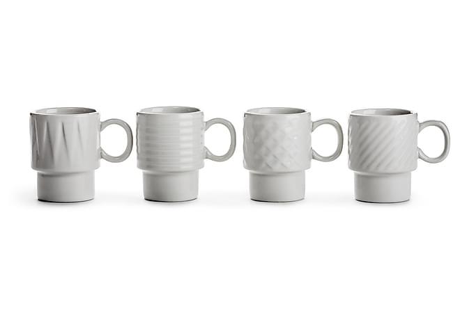 COFFEE & MORE Espressomugg 4-pack Vit - Sagaform - Inomhus - Inredning