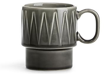 COFFEE & More kaffemugg grå