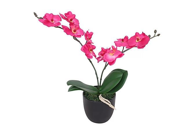 Konstväxt Orkidé med kruka 30 cm röd - Rosa|Grå - Möbler & Inredning - Inredning