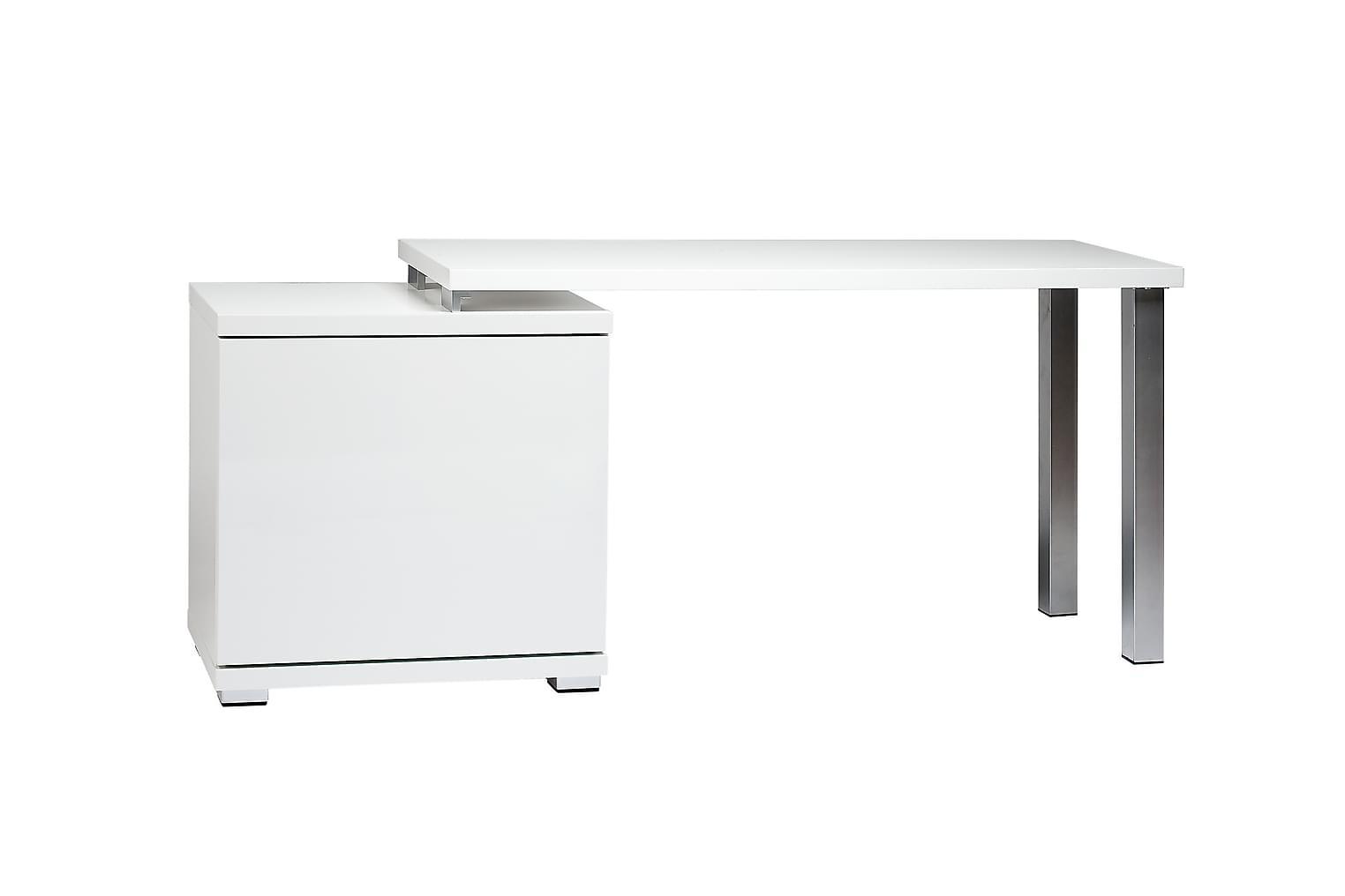 Saaga SAAGA Skrivbord med skåp 135 PO Vit -