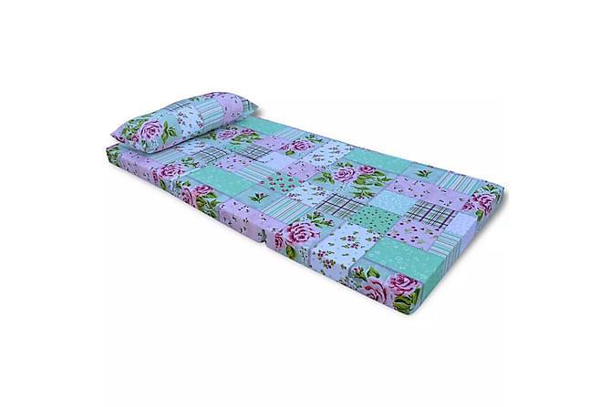 Vikbar madrass för barn blommigt mönster - Flerfärgad - Möbler & Inredning - Madrasser - Bäddmadrasser