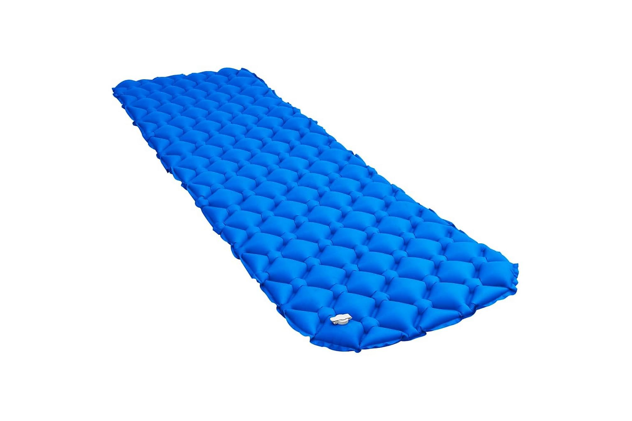 Luftmadrass 58x190 cm blå, Luftmadrasser & uppblåsbara madrass