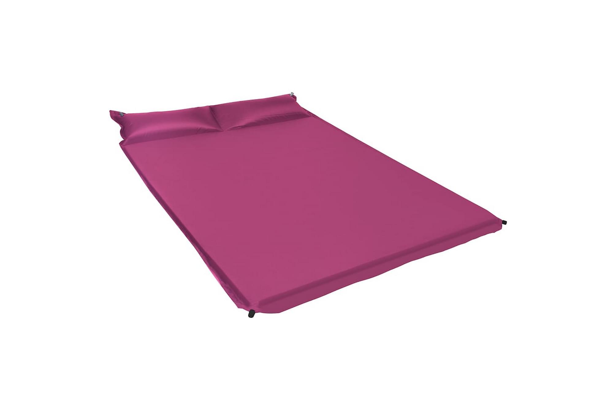 Luftmadrass med kudde 130x190 cm rosa, Luftmadrasser & uppblåsbara madrass