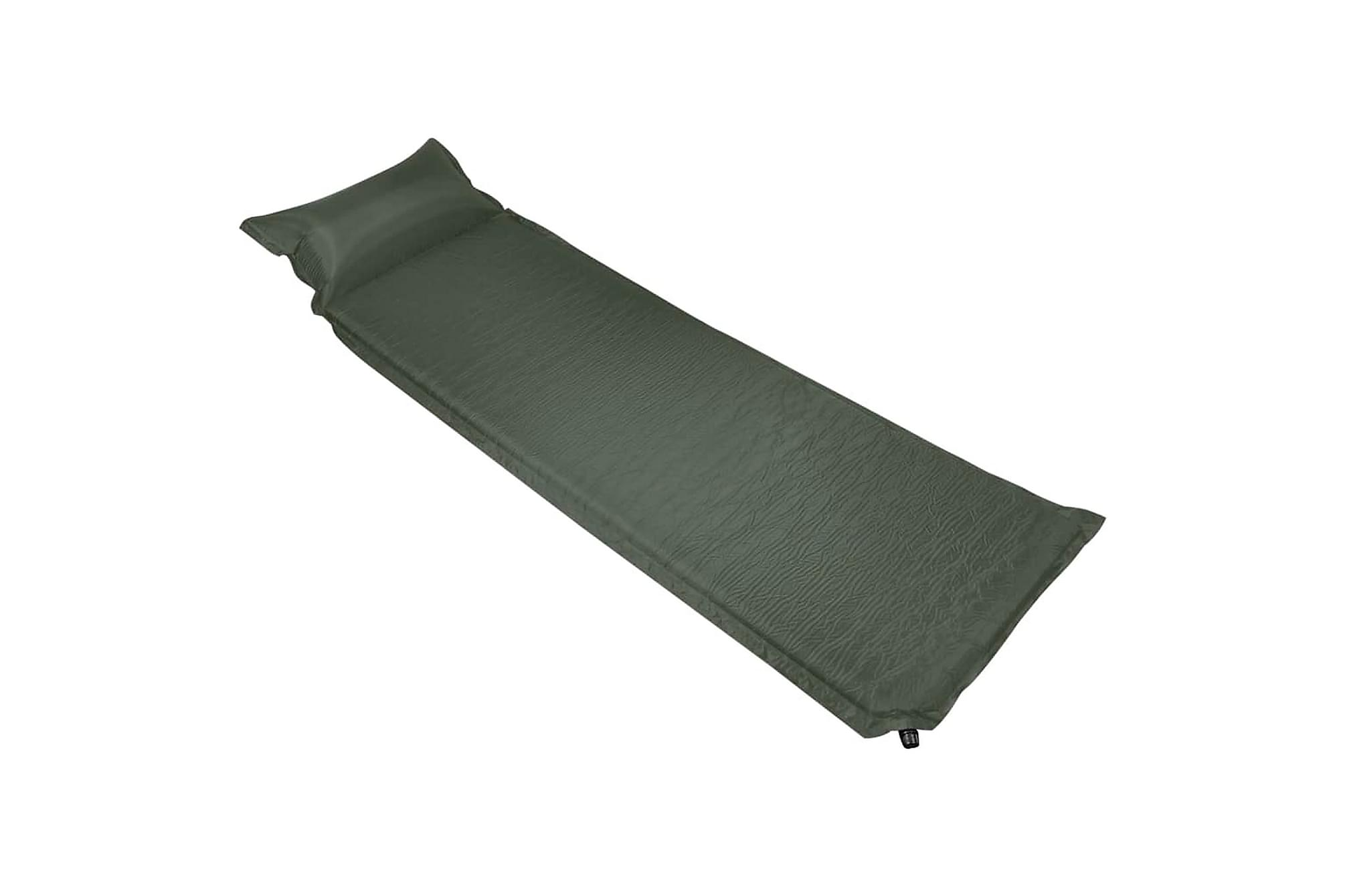 Luftmadrass med kudde 66x200 cm mörkgrön, Luftmadrasser & uppblåsbara madrass
