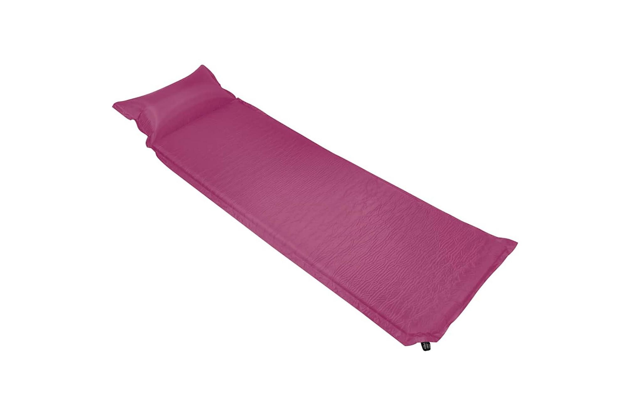Luftmadrass med kudde 66x200 cm rosa, Luftmadrasser & uppblåsbara madrass