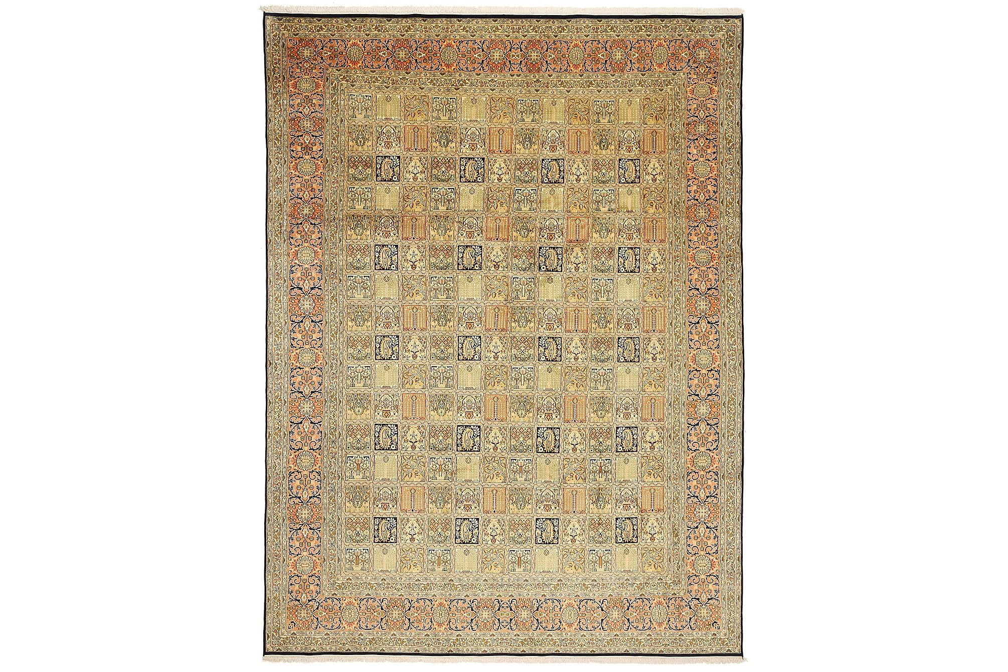 Kashmir äkta silke matta 244×343 Orientalisk Matta