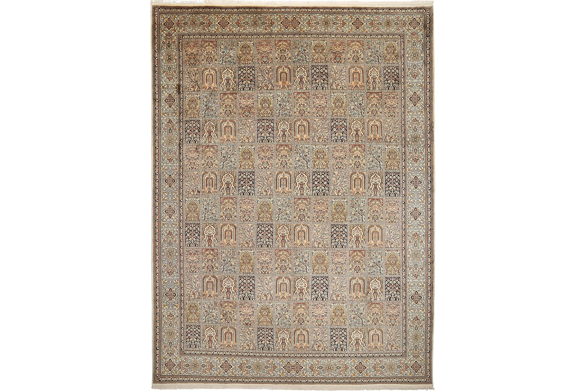 Kashmir äkta silke matta 274×372 Orientalisk Matta