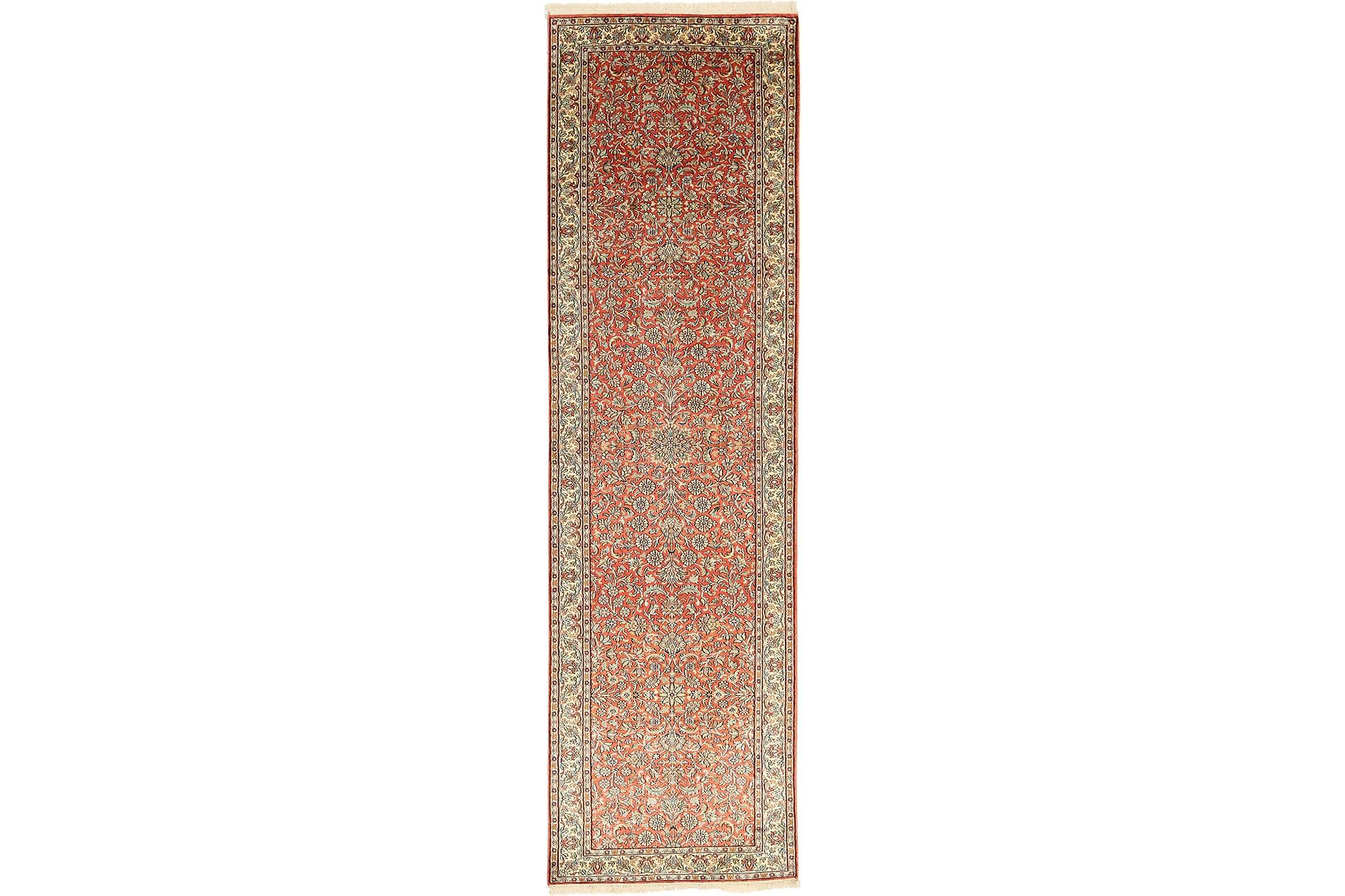 KASHMIR äkta silke matta 80x302 Orientalisk, Avlång Matta, Äkta silkesmattor
