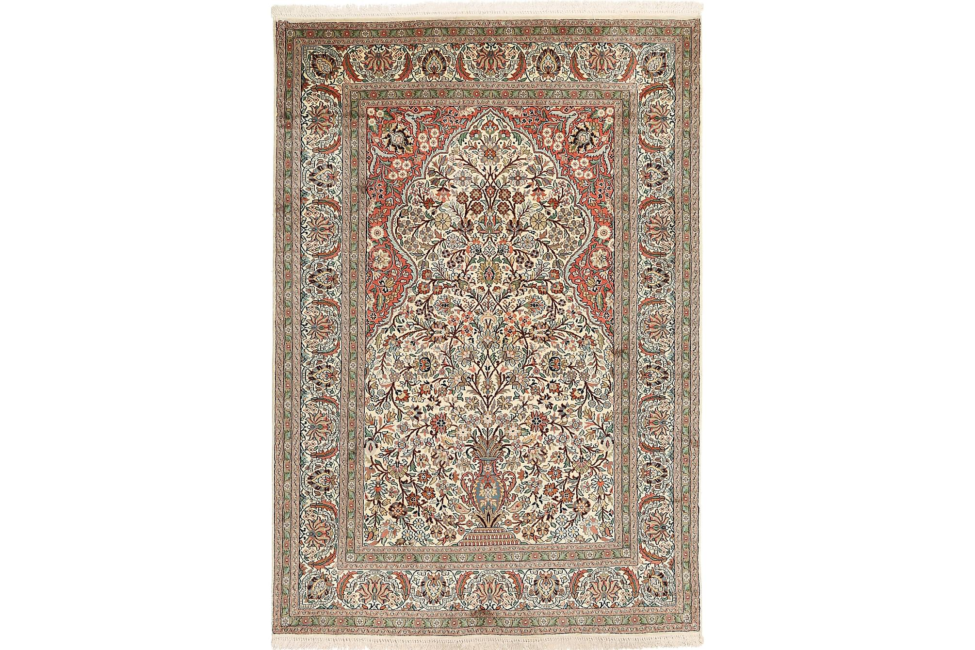 Orientalisk Silkesmatta Kashmir 123x179, Äkta silkesmattor