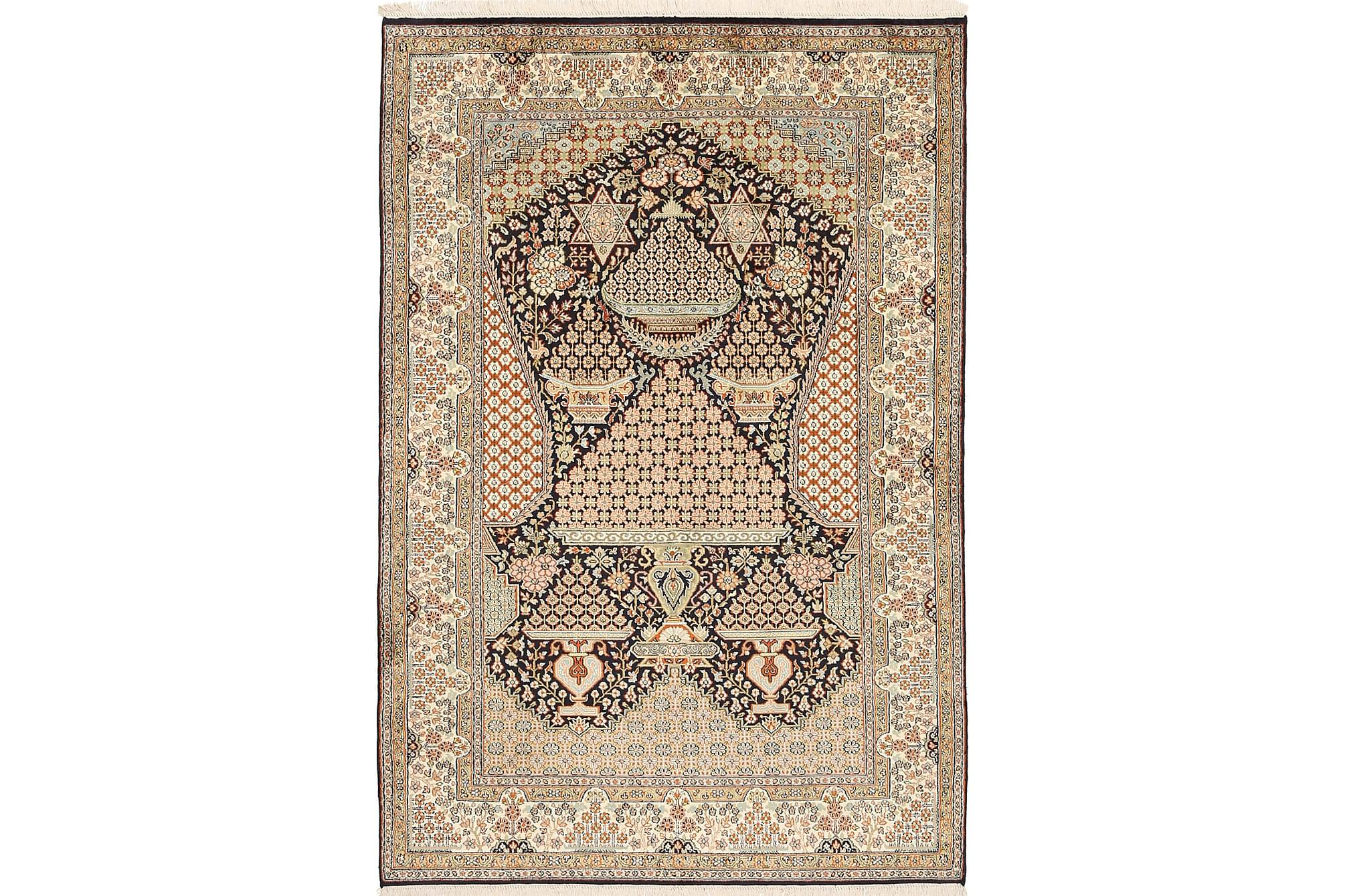 ORIENTALISK Silkesmatta Kashmir 123x182, Äkta silkesmattor