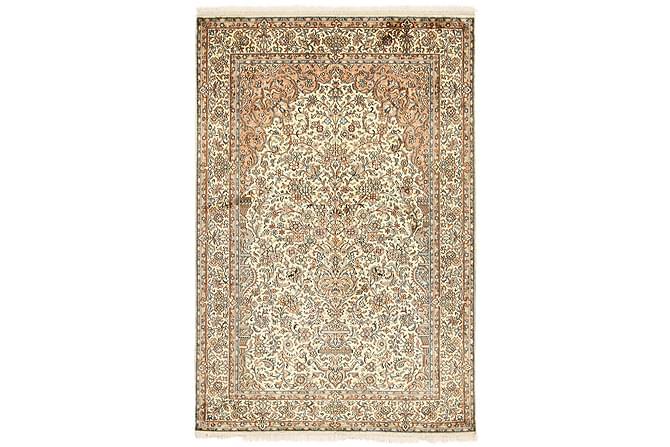 ORIENTALISK Silkesmatta Kashmir 126x189 - Beige|Brun - Möbler & Inredning - Mattor - Äkta silkesmattor