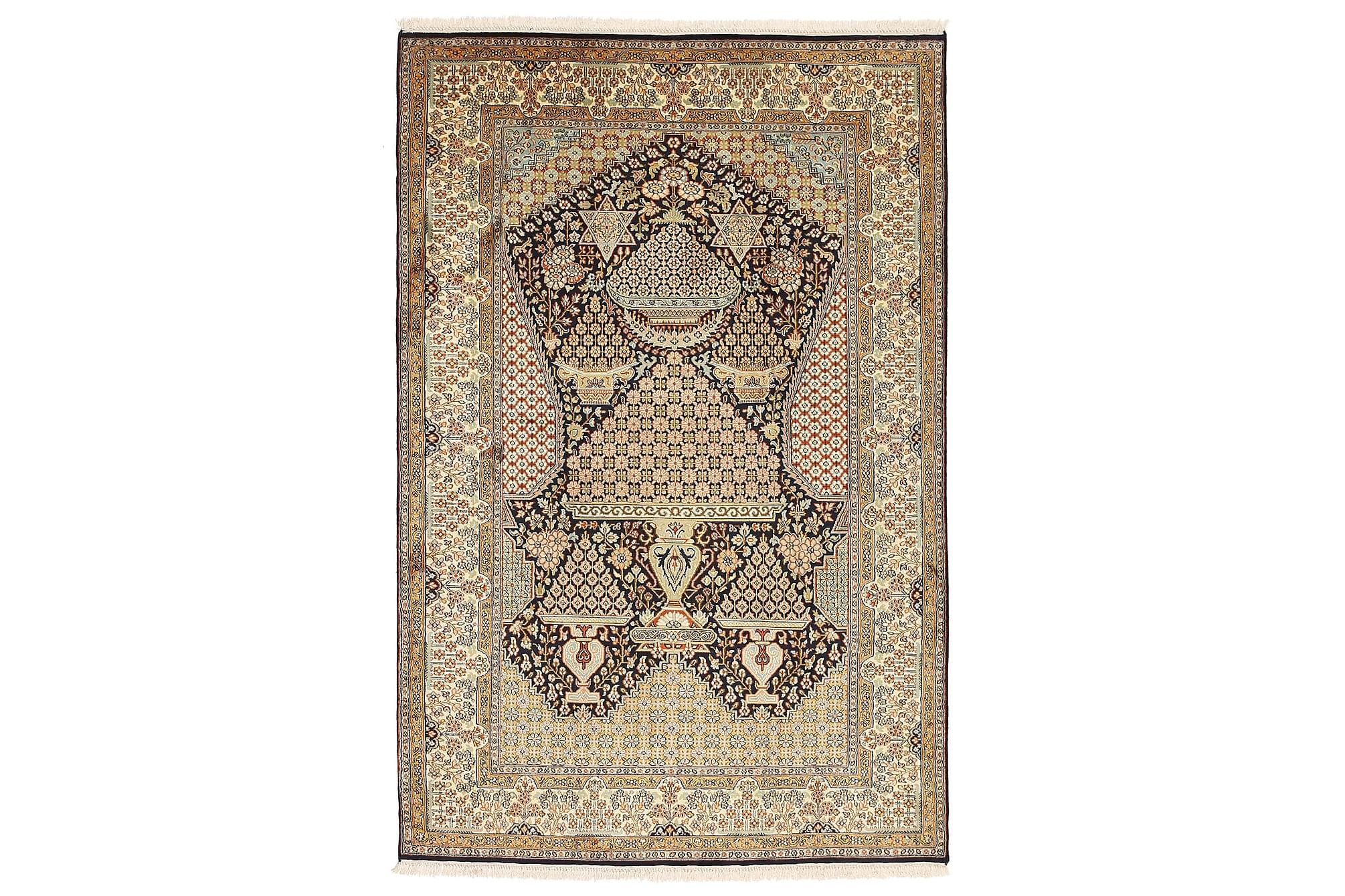 ORIENTALISK Silkesmatta Kashmir 126x191, Äkta silkesmattor