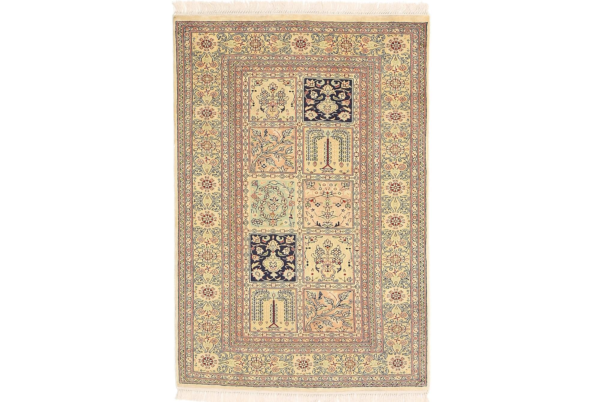 ORIENTALISK Silkesmatta Kashmir 77×112
